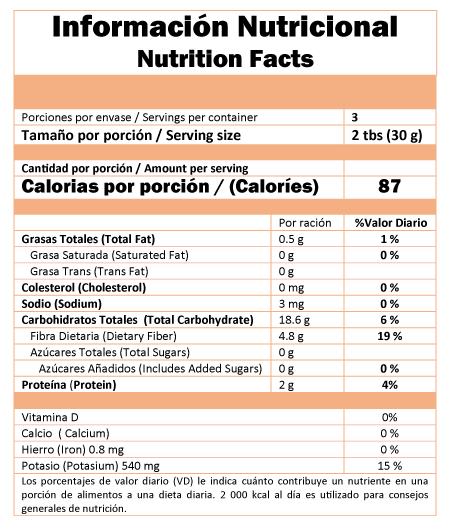 valor nutricional aguaymanto deshidratado